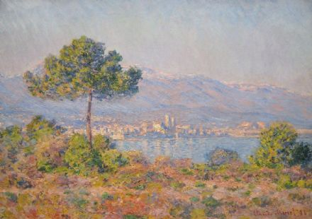 Monet, Claude: Antibes Seen from the Plateau Notre-Dame. Fine Art Print.  (00519)